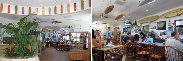 Inside Beach Break Cafe Oceanside California