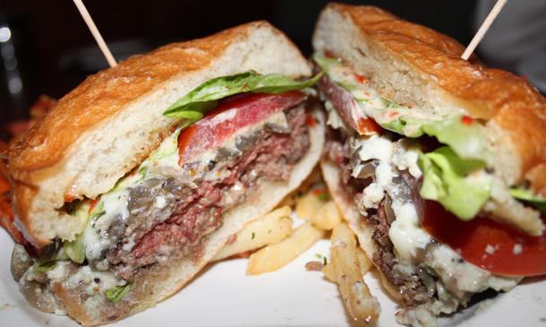 Bistro West Blue Cheese Burger