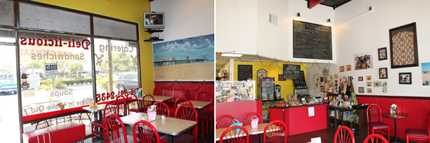 Inside Deli-licious Huntington Beach California