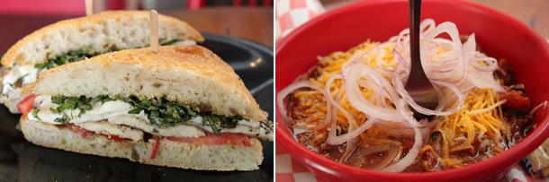 Deli-licious Sandwich and Chili Mac and Cheese