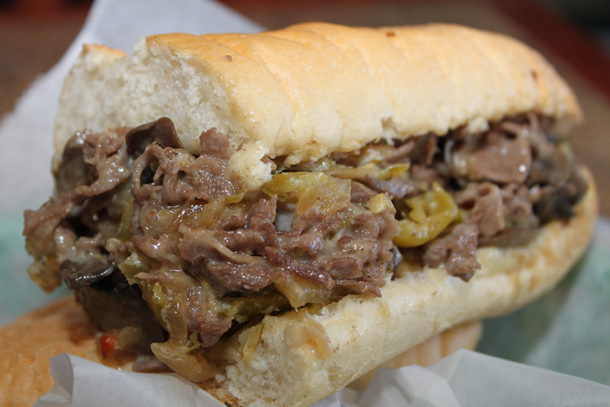 Philly Frank's Steaks The Works Cheese Steak Sandwich