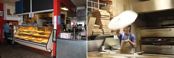 Inside Pizzeria Luigi San Diego California
