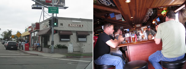 Outside Rocky's Crown and Pub Pacific Beach California