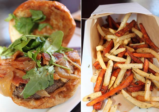 25 Degrees Huntington Beach California Burger and Fries