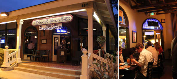 Outside Blue Ribbon Artisan Pizzeria Encinitas California