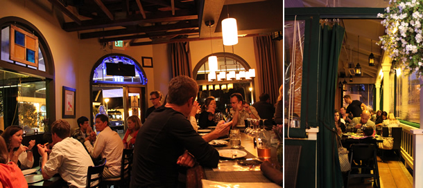 Blue Ribbon Artisan Pizzeria Seating Encinitas California