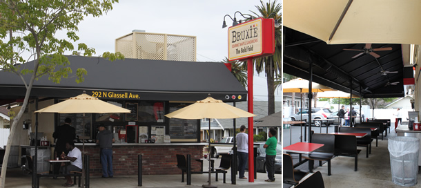 Outside Bruxie Tustin California