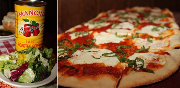 Bucca di Beppo Margherita Pizza and Salad