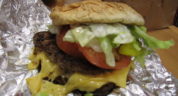 Five Guys Cheese Burger San Marcos California