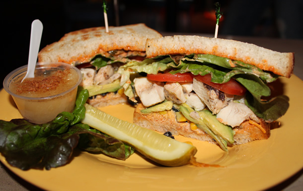 Old California Coffee House and Eatery Southwest Chicken Sandwich