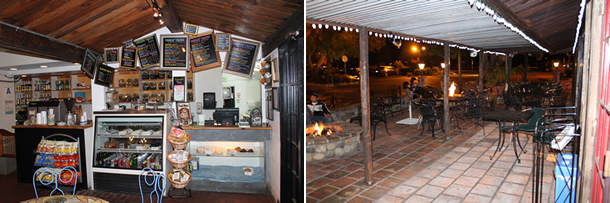 Old California Coffee House and Eatery Fire Pit