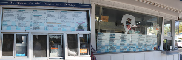 Pepper Tree Frosty Food and Dessert Window Vista California