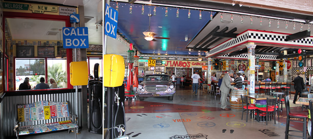 Inside Pit Stop Diner Oceanside California