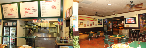 Inside Pizza Pie San Marcos California