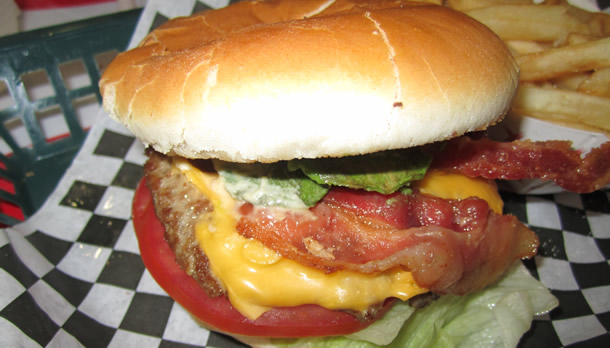 The Money Pit Bacon Avacado Burger San Marcos California