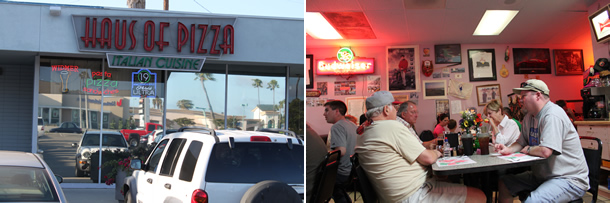 Doria's Haus of Pizza Outside Costa Mesa California