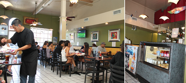 Hot Wings Cafe Los Angeles California Inside Seating