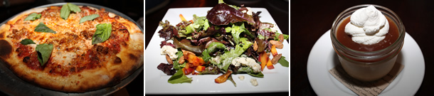 Blue Ribbon Artisan Pizzeria Encinitas California Pizza Salad Dessert
