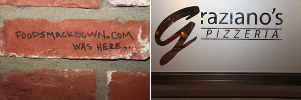 Graziano's Pizzeria Racho Bernardo California Wall Signing
