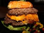 Hash House a Go Go Mashed Potato, Bacon, Cheese Burger
