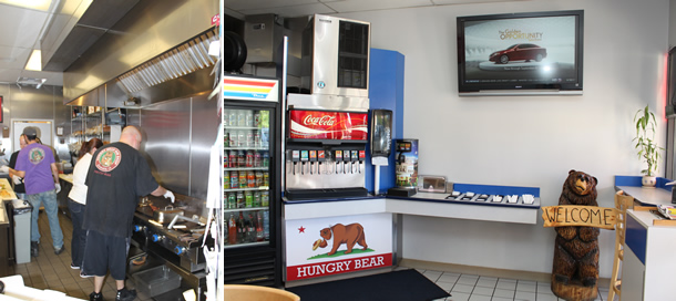 Hungry Bear Sub Shop Escondido California Inside