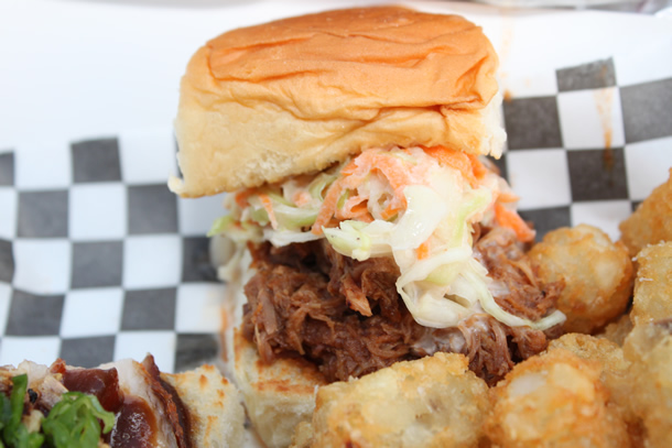 The Burnt Truck BBQ Pulled Pork Slider Orange County California