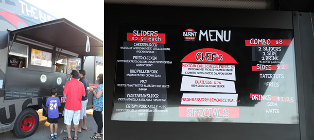 The Burnt Truck Food Truck Menu Orange County California