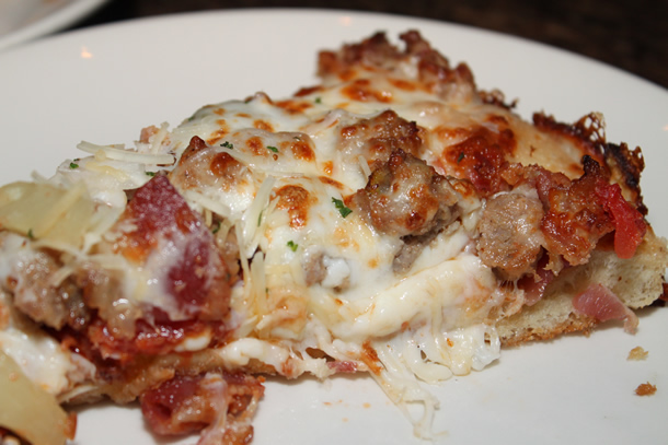 BJ's Restaurant Gourmet Five Meat Pizza