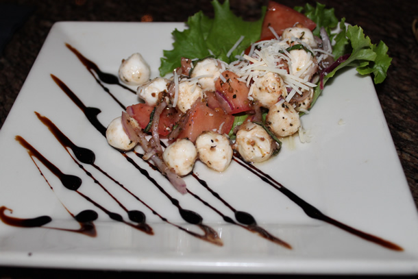 BJ's Restaurant Mozzarella Tomato Salad