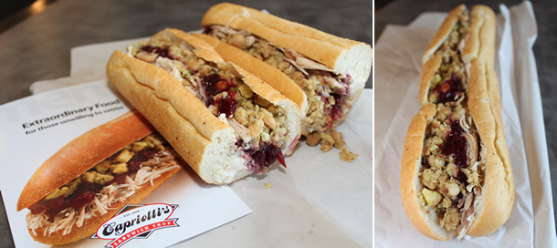 Capriotti's Sandwich Shop San Marcos California The Bobbie Sandwich