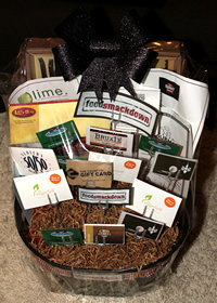 Food Smackdown Auction Basket for Big Brothers Big Sisters of Orange County CA