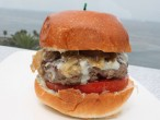 George's at the Cove La Jolla California Niman Ranch Blue Cheese Burger