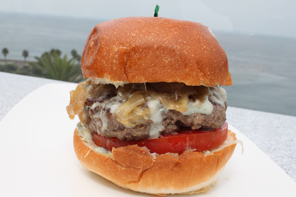 George's at the Cove La Jolla California Niman Ranch Blue Cheese Burger