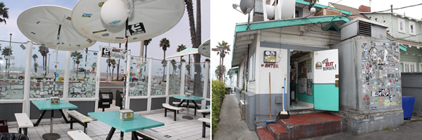TK Burgers Huntington Beach California Outside Seating
