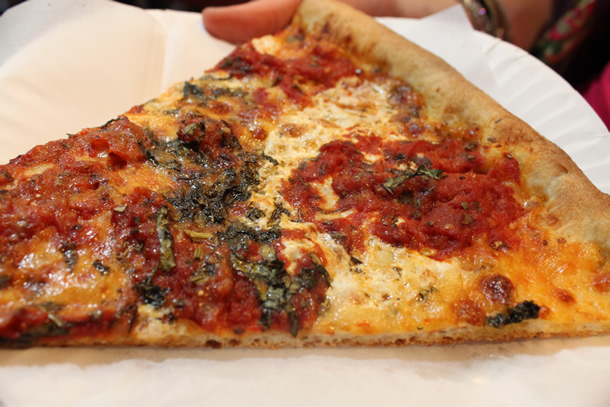 Bleecker Street Pizza New York NY Nonna Maria Pizza Slice