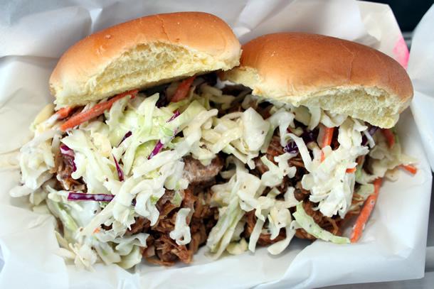 Chop Soo-ey Food Truck BBQ Pulled Pork Sandwich