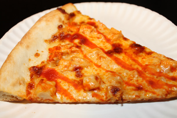 Flippin' Pizza Buffalo Chicken Pizza Slice