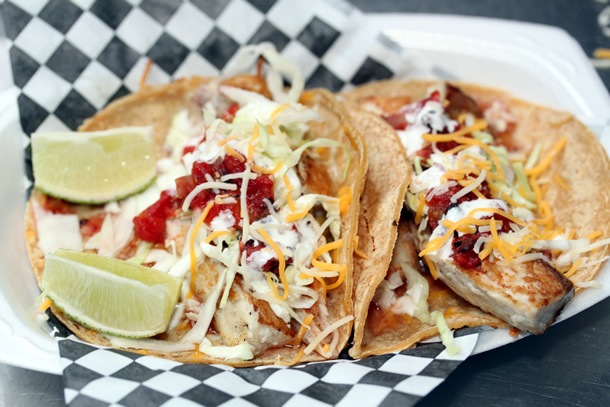 Food Junkies Food Truck Mahi Mahi Fish Tacos