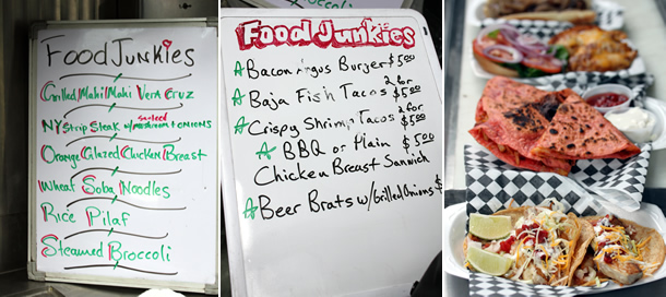 Food junkies food truck san diego california food junkies food truck menu san diego california forumfinder Images