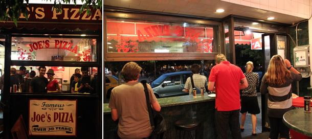 Joe's Pizza Greenwich Village New York City at Carmine Street