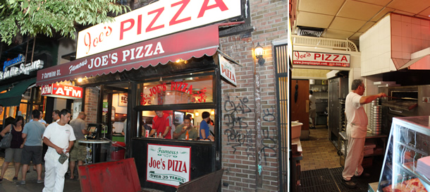 Joe's Pizza Greenwich Village New York City at Carmine Street