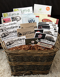 Food Smackdown Silent Auction Basket for Junior League of Orange County