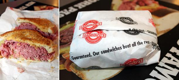 Gandolfo's Rockefeller Reuben Sandwich