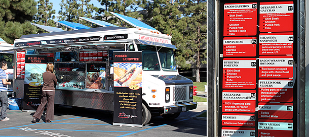Piaggio Gourmet on Wheels Menu - Newport Beach California