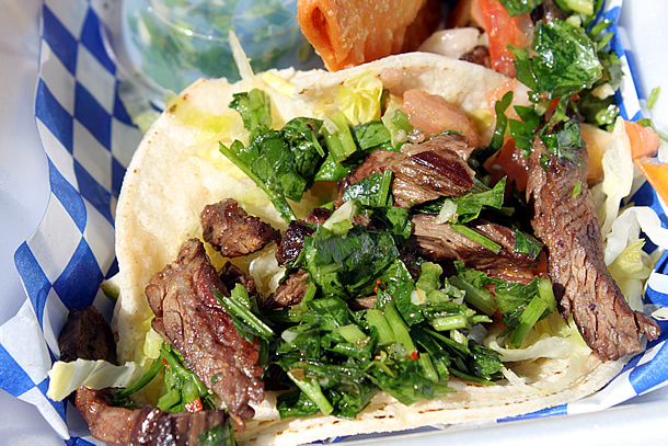 Piaggio Gourmet on Wheels Steak Tacos