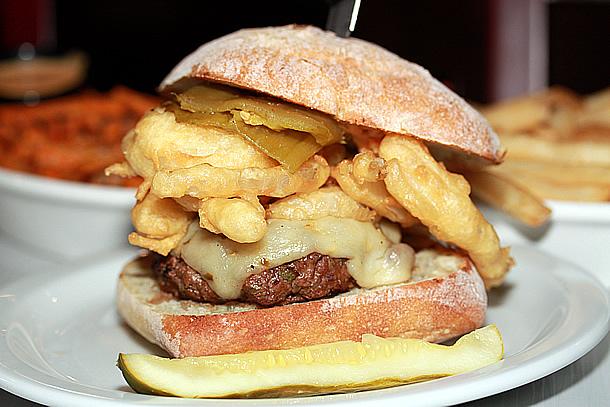 Slater's 50/50 San Diego California - Flamin Hot Burger