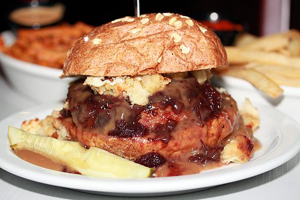 Slater's 50/50 San Diego California - Thanksgiving Burger