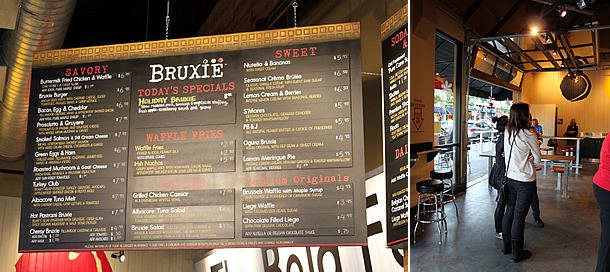 Bruxie Brea California Menu