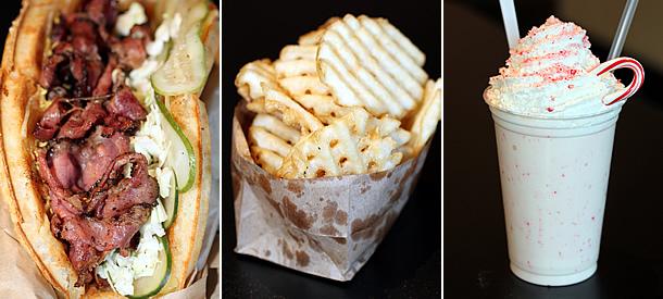 Bruxie Brea California - Pastrami, Waffle Fries, Shake