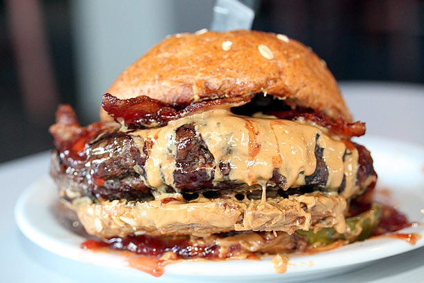 Peanut Butter and Jellousy Burger - Slater's 50/50